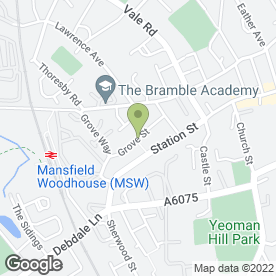 Map of CADDY TRAVEL in Mansfield Woodhouse, Mansfield, nottinghamshire