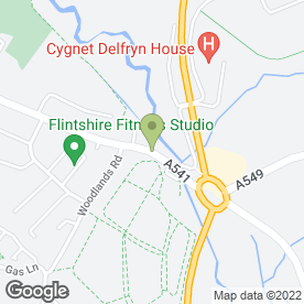Map of Queen's Head in Mold, clwyd