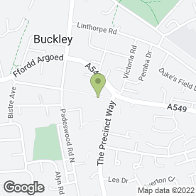 Map of Allied Healthcare in Buckley, clwyd