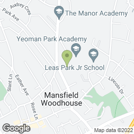 Map of AAA Man & Luton Van Hire in Mansfield Woodhouse, Mansfield, nottinghamshire