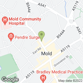 Map of Lush Hair Studio in MOLD, clwyd