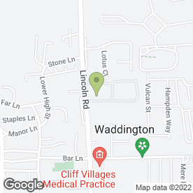 Map of BROWNS AUTO BREAKERS in Waddington, Lincoln, lincolnshire