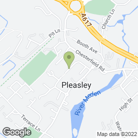 Map of Paul Sharp Fencing & Garden Services in Pleasley, Mansfield, nottinghamshire