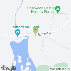 Map of Rufford Park Golf & Country Club in Rufford, Newark, nottinghamshire