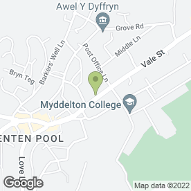 Map of Aston Hughes & Co in Denbigh, clwyd