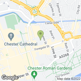 Map of Boots Hearing Care in Chester, cheshire