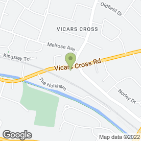 Map of 1ST 4 NAILS in Vicars Cross, Chester, cheshire