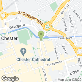 Map of The Oddfellows Arms in Chester, cheshire