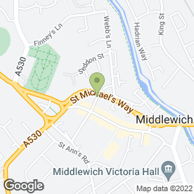 Map of Reeves D.P in Middlewich, cheshire