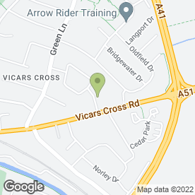 Map of New Wave Security Services in Vicars Cross, Chester, cheshire