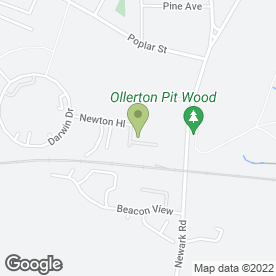 Map of Nationwide Diamond Drilling & Cutting Ltd in Ollerton, Newark, nottinghamshire