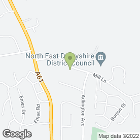Map of Rykneld Homes Ltd in Wingerworth, Chesterfield, derbyshire