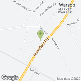 Map of Gifford Birchley Clarinet, Piano and Music Theory Teacher in Warsop, Mansfield, nottinghamshire