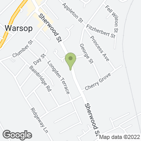 Map of Beauty Angel in Warsop, Mansfield, nottinghamshire