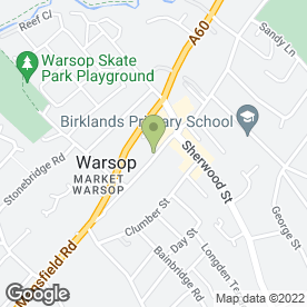 Map of Burton & Sherwood Ltd in Warsop, Mansfield, nottinghamshire