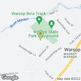 Map of ELLIS RILEY in Warsop, Mansfield, nottinghamshire