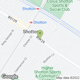 Map of O.W Ellis in Shotton, Deeside, clwyd
