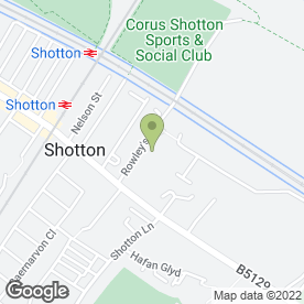 Map of DB Security in Shotton, Deeside, clwyd