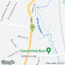 Map of Chef De Canton in Chesterfield, derbyshire