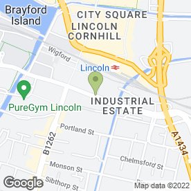 Map of Bridge McFarland in Lincoln, lincolnshire
