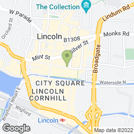 Map of Royal Bank of Scotland in Lincoln, lincolnshire