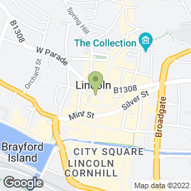 Map of The Bead Gallery in Lincoln, lincolnshire