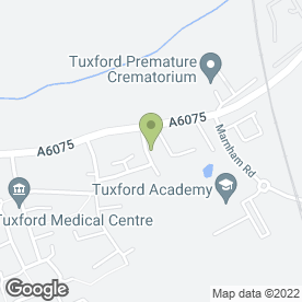 Map of Tuxford Comprehensive School in Tuxford, Newark, nottinghamshire