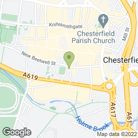 Map of Rileys Sports Bar in Chesterfield, derbyshire