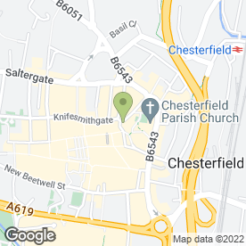 Map of Greggs in Chesterfield, derbyshire