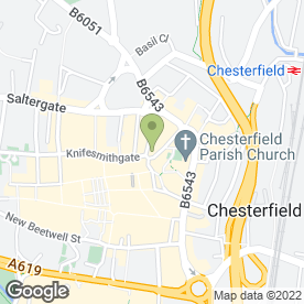 Map of Royal Bank of Scotland in Chesterfield, derbyshire