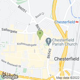 Map of KH Hair (Keith Hall) in Chesterfield, derbyshire