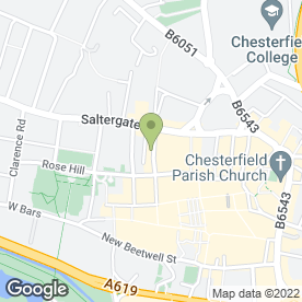 Map of Calabria in Chesterfield, derbyshire