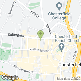 Map of Midlands Co-operative Foodstore in Chesterfield, derbyshire