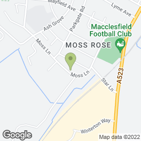 Map of Hobson Contractors in Macclesfield, cheshire