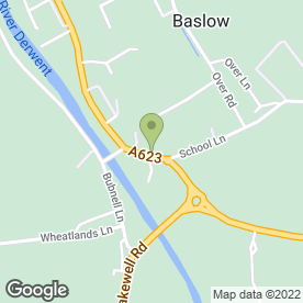Map of The Stage in Baslow, Bakewell, derbyshire