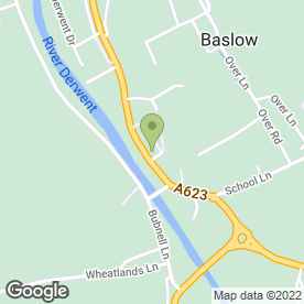 Map of Hulleys of Baslow in Baslow, Bakewell, derbyshire