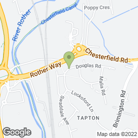 Map of Timber Fence Staining Service in Chesterfield, derbyshire