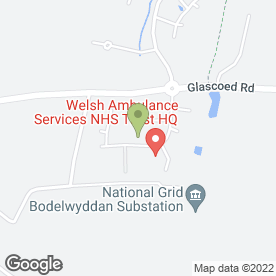 Map of MPH Northwest Ltd in St. Asaph, clwyd