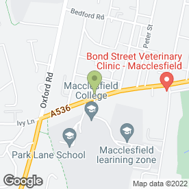 Map of Macclesfield High School Arts & Technology College in Macclesfield, cheshire