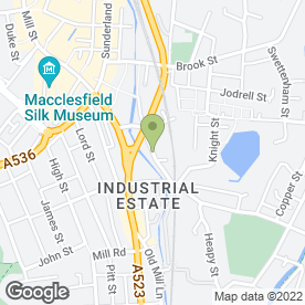 Map of PJC Locks & Safes Ltd in Macclesfield, cheshire