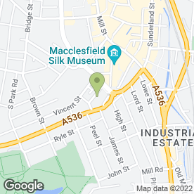 Map of Cheeky Chimps Childminding in Macclesfield, cheshire