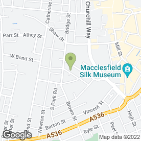 Map of Woottons Ltd in Macclesfield, cheshire