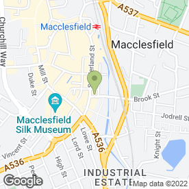 Map of Ladyzone Beauty Rooms in Macclesfield, cheshire
