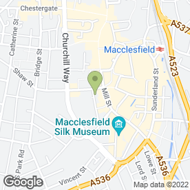 Map of Woodstock Picture Framing in Macclesfield, cheshire