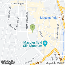 Map of Cinemac in Macclesfield, cheshire