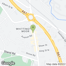 Map of WISDOM DENTAL & FACIAL AESTHETIC CLINIC in Chesterfield, derbyshire