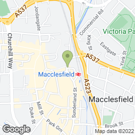 Map of Direct Food Ingredients Ltd in Macclesfield, cheshire