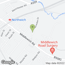 Map of TWG Ltd in Northwich, cheshire