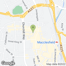Map of Greggs in Macclesfield, cheshire