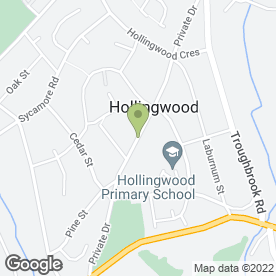 Map of David Fenwick Plumbing & Heating in Hollingwood, Chesterfield, derbyshire